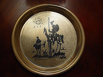 Washington Mint PICASSO 1972 Don QUIXOTE De La MANCHA Sterling Silver 8 in Plate