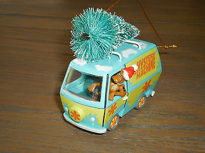 Scooby Doo Christmas ornament Mystery Machine with tree on top Trevco brand