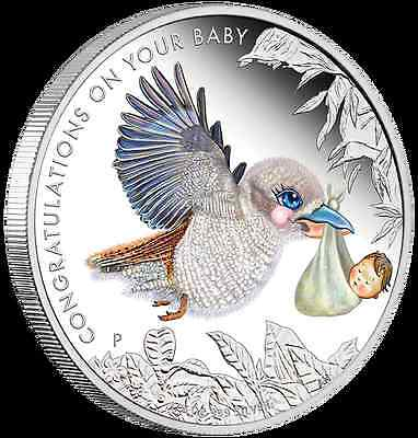 2017 Australian NEWBORN BABY 1/2 oz Coloured Proof Coin - Perth Mint