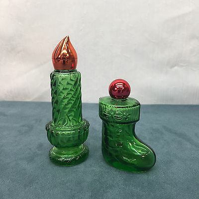 Avon Bottles Decanters Collection Christmas Candle Surprise Stocking Cologne Set