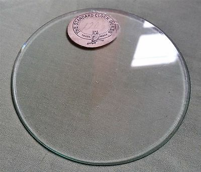Antique round bevelled flat Clock Glass, 12.1 cm, 4.76 inches..