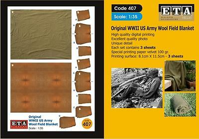 Original WW II US Army Wool Field Blanket Suit scales 1/35