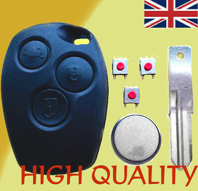 RENAULT Trafic Master Clio Modus 3 Button Remote Key Fob Case Repair Kit blade