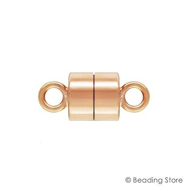 1 or 10 x 14ct Rose Gold Filled 4.4mm x 9.9mm Long Magnetic Clasp Clasps