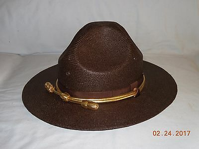 Stratton Brown Straw Campaign Hat Police/ Sheriff (Size 7 1/8)