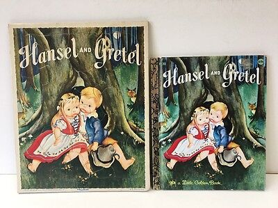 Vintage Hansel and Gretel Playskool Tray Frame Puzzle and Little Golden Book Set