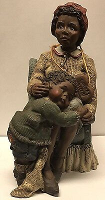Sarah's Attic Family Essence Mother & Son Sitting  Chair Doll Figurine Rare