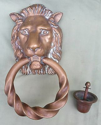 Huge Georgian Regency Lion Mask Door Knocker, very rarely seen this size