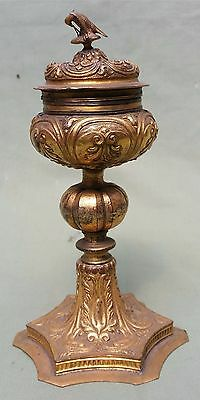Fine 17th century Gilt Copper Ciborium.  Catholic Church Chalice