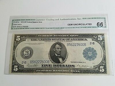 1914 $5 Federal Reserve Note!!!!