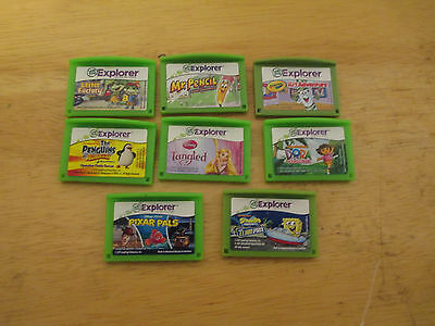Lot of 8 Leap Frog Leapster Leap Pad Explorer Game Cartridges