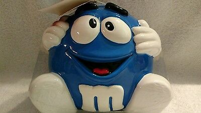M&M's Blue Minis Ceramic Candy Jar With Hands & Feet