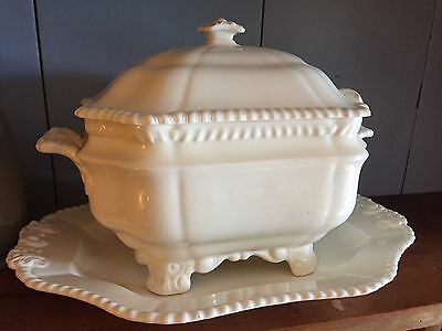Vintage Rectangular Spode Soup Tureen w/ Underplate & Ladle