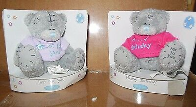 "New/ Pkg Tatty Teddy ""Me to You"" tiny 3"" sitting Bear 5 styles Gift Bears"