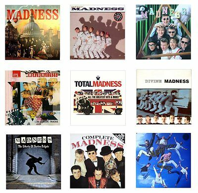 MINIATURE 1/12th Non Playable - LP. RECORD ALBUMS - MADNESS - Set.2 - VARIOUS