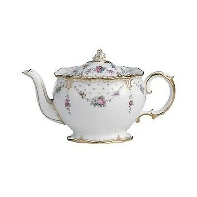 New Royal Crown Derby 2nd Quality Antoinette Small Teapot