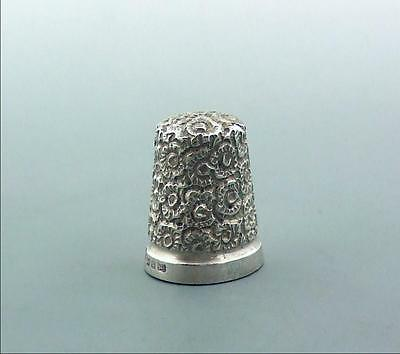 Antique Victorian Sterling Silver Thimble Charles May 1890