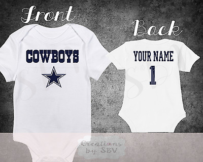 Dallas Cowboys Homemade baby bodysuit.