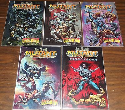 Lot of 5 Mutant Chronicles: Golgotha #1-4, Sourcebook Simon Bisley VF-NM