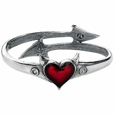 Alchemy Gothic Devil Heart Pewter Fashion Bracelet