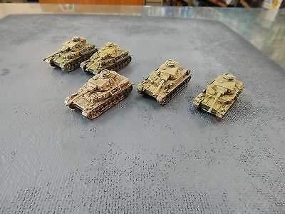15mm painted Flames of War German Panzer4 Tanks x 5