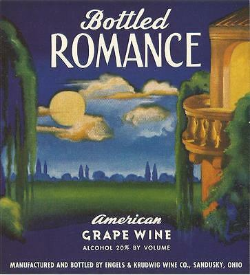 BOTTLED ROMANCE, Wine Label, 1930s