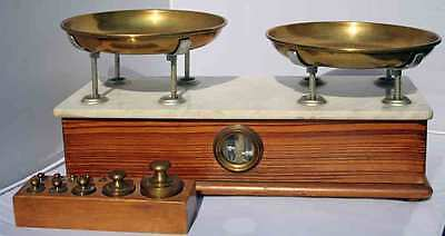 Antique P. Dieci Chilog Apothecary Medical Pharmacist w/Weights Balance Scale