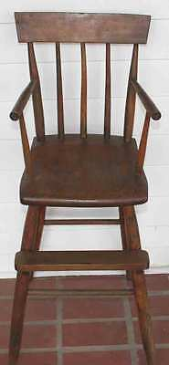 Antique Windsor Wooden High Chair 36 Inch