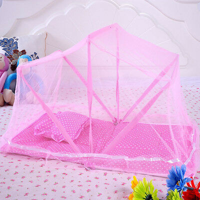 Baby Nursery Mosquito Netting Foldable Kids Cradle Bed Canopy Floor Crib Tent
