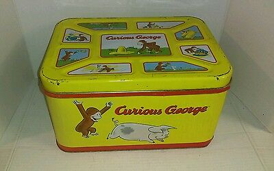 Vintage 1998 Curious George Tin Box Great Graphics Rare