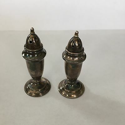 Vintage Sterling Silver Mini Salt & Pepper Shakers, Individual, 3 Sets avail