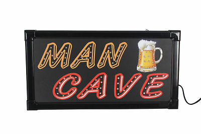 Man Cave LED Sign | 48cm Mancave Bar Sign | Fathers Day | Gift for Guys