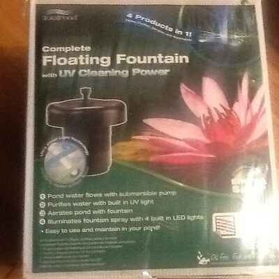 Total Pond Complete Floating Fountain Pond Pump with UV Cleaning Power