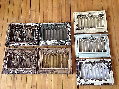 Vintage Wall Vent Covers VHTF Gorgeous Gothic Arch style  -7 matching available
