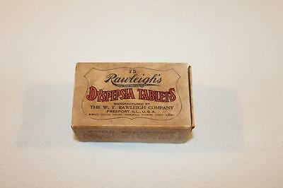 Vintage Rawleigh's Dyspepsia Tablets Box Freeport, Ill. USA-BL
