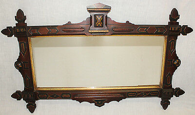 Victorian Walnut Mirror, Rectangular, Renaissance Revival, Framed