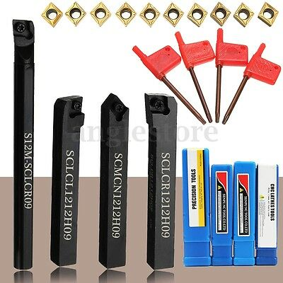 10X CCMT09T304 S12M-SCLCR09+1212H09+SCLCL+SCMCN1212H09 Lathe Turning Tool Holder