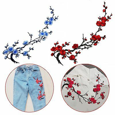 Blossom Flower Embroidery Applique Clothing Patch Sticker Iron On Sew Cloth DIY