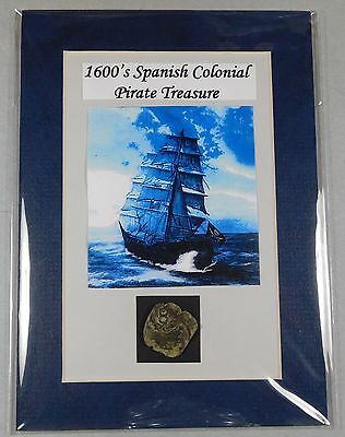 """1600's  SPANISH COLONIAL PIRATE TREASURE - COPPER COB with a counterstamp """"8"""""""