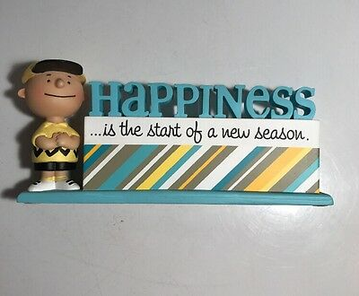 Hallmark Peanuts Happiness Is Start New Season Figurine Charlie Brown Baseball