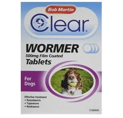 Bob Martin Clear Wormer Tablets Dogs Puppies Worming Treatment Granules tapeworm