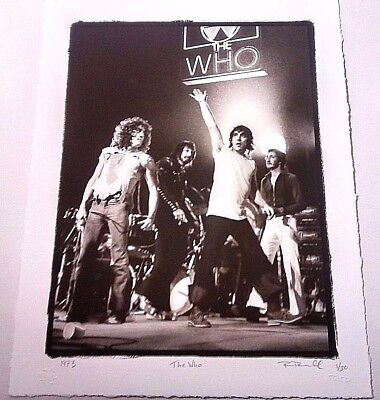 The Who Fine Art Print Photo Limited Edition S&n #1/30 Rock Paper Photo Coa Rare