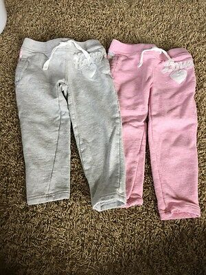 Lot Of 2 Carters Toddler Girl Pants Size 2T