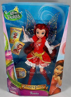"Disney Fairies Pirate Fairy Movie Rosetta 9"" Deluxe Fashion Toy Doll Figure New"