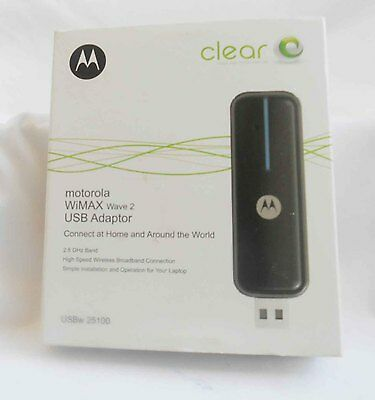 Genuine OEM Motorola Clear WiMax Wave 2 USB Adaptor Model USBw 25100