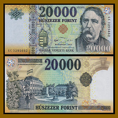 Hungary 20000 (20,000) Forint, 2015 P-New Unc