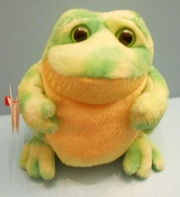 """5"""" Ty Beanie Babies 2.0, Birthday July 5th, 2007 """"Jumps"""" the Frog, Green/Yellow"""
