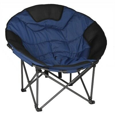 OZTRAIL MOON CAMP CHAIR LARGE JUMBO 150kg WEIGHT RATING OUTDOOR CAMPING