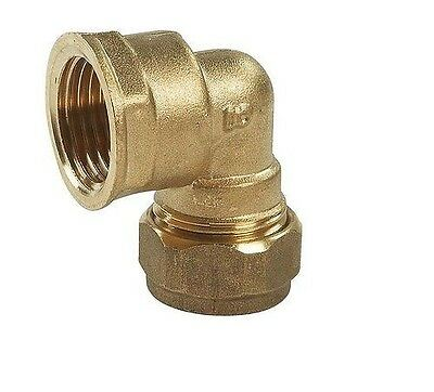 "Brass Compression x Female BSP Thread Elbow 10mm - 22mm 1/4"" - 1"" Various Sizes"