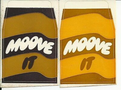 1980's MOOVE Flavoured Milk Advertising STICKERS x 2